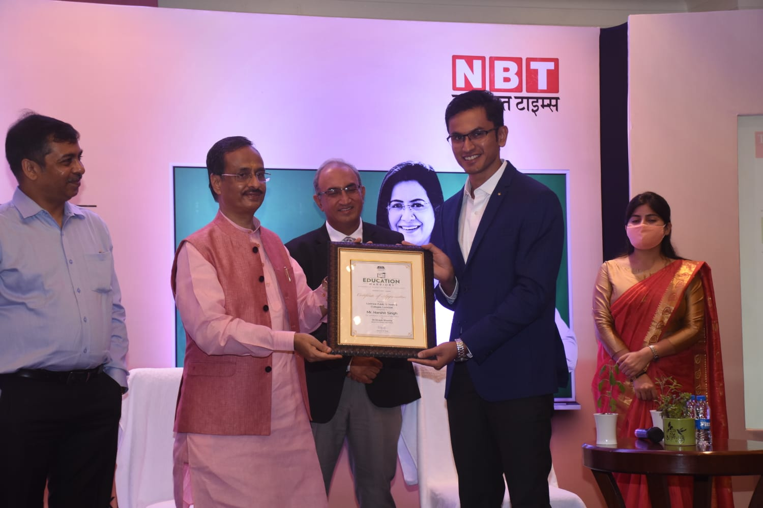 The Times Group organized a programme, Education Warriors, recognizing the valuable contribution of educationists, in Lucknow, today on  3rd  September 2021.
